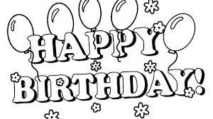 Birthday Coloring Page Birthday Coloring Pages Love Happy Birthday