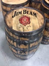 jim beam bourbon full size barrel authentic jim beam whiskey barrel table