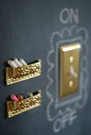 use chalkboard paint around the light switch