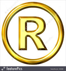 Registered Symbol Emblems And Symbols 3d Golden Registered Symbol Isolated In White