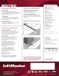 liftmaster bg790 barrier gate operator liftmaster bg790 brochure pdf