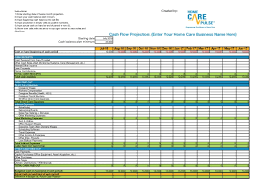 How To Do A Cash Flow Projection Cash Flow Projection Worksheet Home Care Pulse