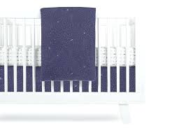 crib skirt stars in navy color galaxy bedding trend lab 3 piece set