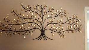 metalic wall art large metal leaf wall art entrancing charming and durable metal tree wall art