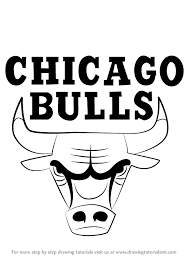 bulls logo. Perfect Logo Learn How To Draw Chicago Bulls Logo NBA Step By  Drawing Tutorials Intended