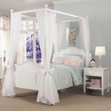 Emma 4-Post Bed with Tall Headboard and Footboard ...