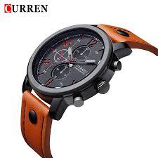 sharp quartz watches. aliexpress.com : buy 2017 curren casual men watches brand luxury leather military wrist sports quartz watch relogio masculino 8192 from sharp