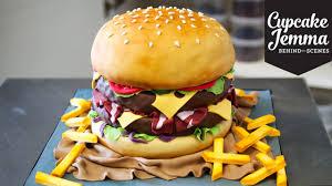 Burger Cake Design The Making Of A Burger Cake Cupcake Jemma