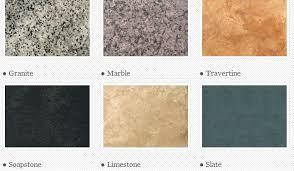 types of countertops type of countertops outstanding granite tile countertop