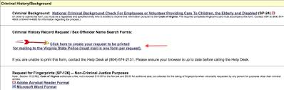 sp167 form virginia criminal background check backgroundcheck net