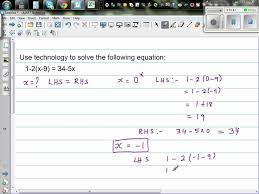 using excel to solve linear equation with x on both sides of the equation