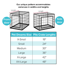 Dog Crate Size Chart Cratewear Set For Your Pet Classic Double Door Set Multiple Colors Sizes