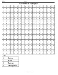 Small Picture Witch Worksheets For Preschool At Halloween Color By Number Pages