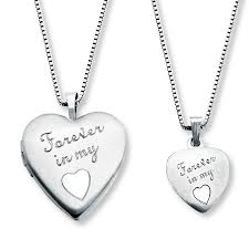 mother daughter necklaces forever in my heart sterling silver