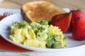 avocado scrambled eggs dinners