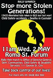 a guide to s stolen generations creative spirits protest poster reading stop more stolen generations 13 433 aboriginal kids taken in queensland just