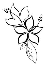 Mod Le De Tatouage De Fleurs D Hibiscus Avec Des Feuilles Tatoo
