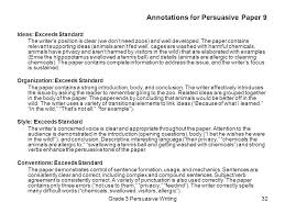 grade writing assessment ppt  annotations for persuasive paper 9
