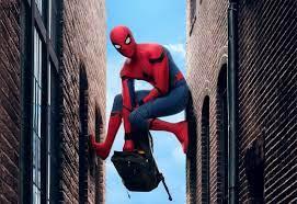 Spider-Man climbing between two walls ...