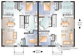 Multi Family Plan W2085 V1 Detail From Drummondhouseplans Com. 4 Bedroom  Semi Neat Design Floor Plans For Detached Houses
