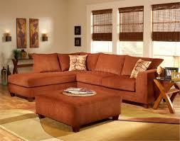 Terracotta Living Room Terracotta Fabric Modern Sectional Sofa W Optional Ottoman