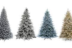 White Outdoor Christmas Tree  Christmas Lights DecorationTypes Of Christmas Tree Lights
