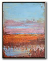 abstract painting extra large canvas art oversized abstract landscape painting canvas wall art blue pink orange