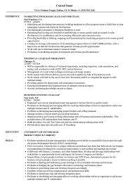 Lead Sap Resume Samples Velvet Jobs