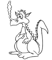 Small Picture Dragon Coloring Pages Easy Activity Shelter
