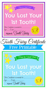 Free Tooth Fairy Certificates And Ideas Tooth Fairy Pinterest