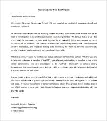 Free Download Wel ing Letter to Parents From Principal