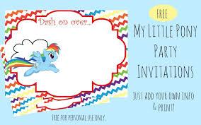 Birthday Invitations Printable Free Printable Rainbow Dash Party Invitations Our Whimsical Days
