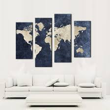 4 panel blue map painting world map with mazarine background picture print on canvas no frame wall art for home modern decoration on world map wall art with photo frames with shop modern world map wall art uk modern world map wall art free