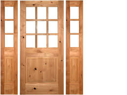 cottage style front doorsKNOTTY ALDER 9LITE COTTAGE STYLE ENTRY DOOR WITH SIDELITES EX