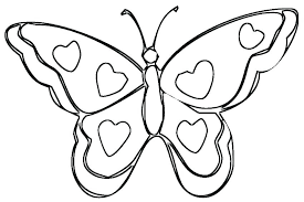 Butterfly Color Page Coloring Pages For Toddlers Free Tesscco