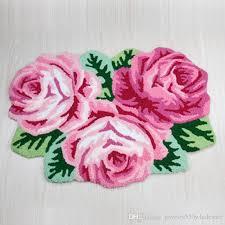 rose flower bath mat shaped rug mat carpet 3 rose rug soft carpet door floor mat tapis alfombras machine washable rugs 80 60cm rose flower bath mat bath
