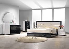 black lacquer bedroom furniture. ju0026m furniture turin black u0026 white lacquer queen size bedroom set r