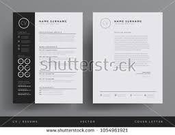 Professional Cv Resume Template Design Letterhead Stock Vector