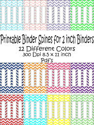 3 Ring Binder Insert Templates Spine Template Label Co 1 2