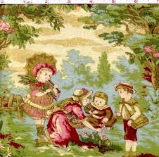 12 best Delightful Toile Fabrics images on Pinterest | Toile ... & 1 Yard Quilt Fabric Captured In Time Toile Fabric Romantic R Pandolf Adamdwight.com