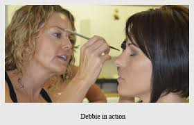 debbie in action for makeup courses in south africa