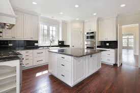 kitchen flooring with white cabinets. Unique Flooring Collection In White Kitchen Cabinets With Granite And Brilliant  Luxury Ideas To Flooring