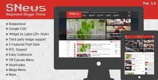 Snews 1 6 News Magazine Responsive Blogger Theme New