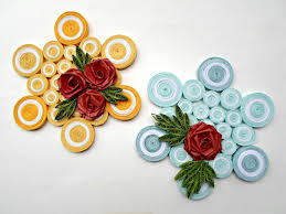 paper quilling rose wall art origami instructions art