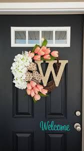 initial wreaths for front doorSpring Wreath  Summer Wreaths for door  Burlap wreath  Monogram