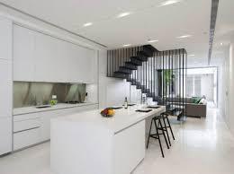 Interior Design Small Modern Minimalist Open Kitchen With Simple