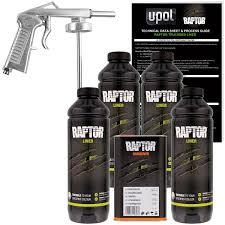 Raptor Liner Color Chart U Pol Raptor Tintable Urethane Spray On Truck Bed Liner Kit With Spray Gun 4 Liters