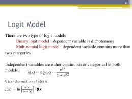 Logit Model Probit And Logit Model