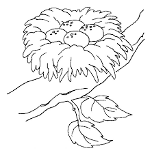 Small Picture Safest Place for Bird Eggs is Bird Nest Colouring Page Happy