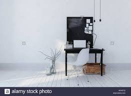 contemporary study furniture. Minimalist Modern Office Or Study Interior With A Simple Writing Table, Laptop, Notice Board Contemporary Furniture F